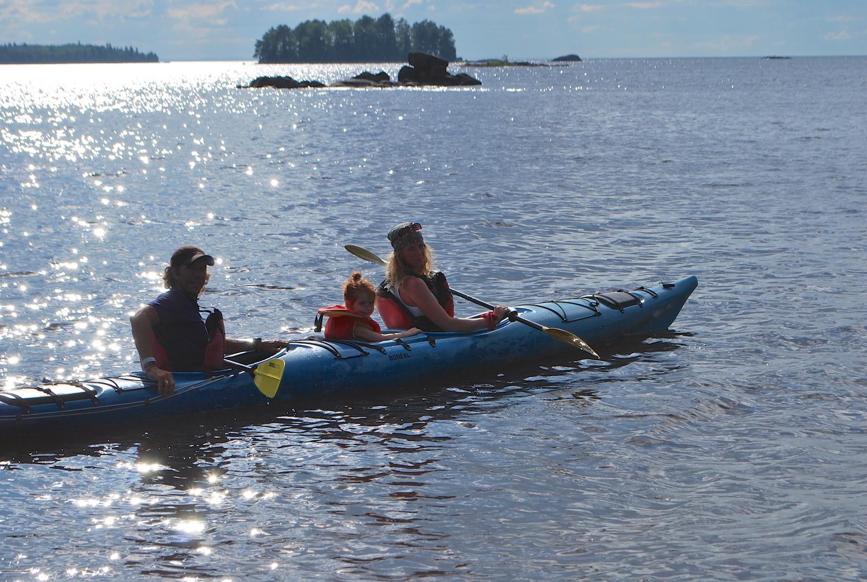 Excursion en kayak près des îles d'Alma
