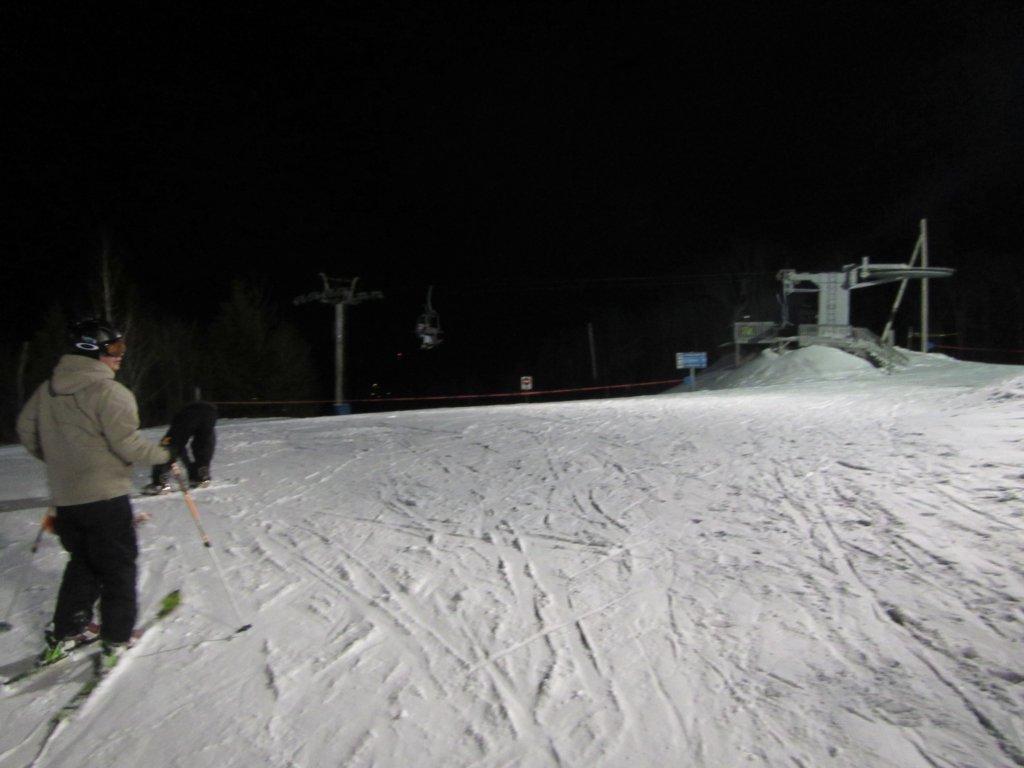 Condition de la neige au sommet du mont Bélu