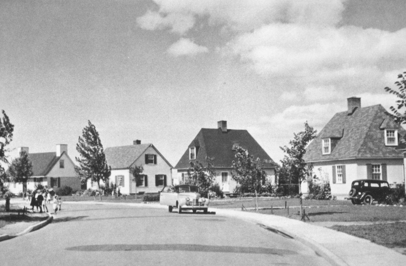 Image promotionnelle de la compagnie Alcan en 1953. Rapport annuel d'Alcan.
