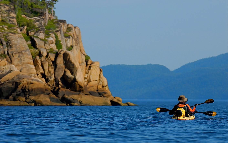 Kayak sur le Saguenay