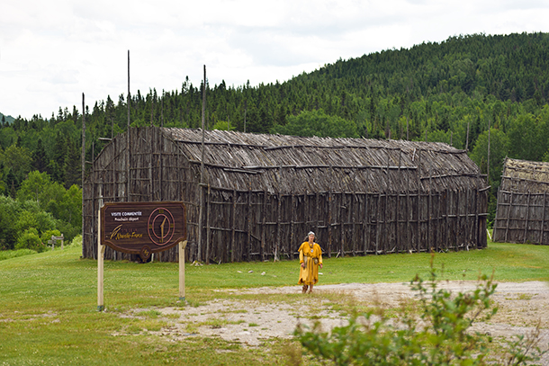 Maison longue amérindienne