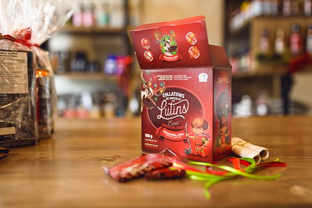 Collations en chocolat pour lutins de la Chocolaterie des Pères Trappistes