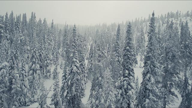 La veille du tournage, il y avait eu une bonne averse de neige partout dans la région.