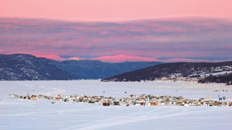 Crédit photo: Martial Tremblay - Village sur glace de La Baie