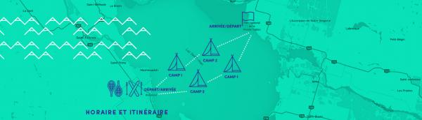 Itinéraire des deux traversées du lac Saint-Jean