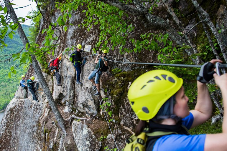 Via Ferrata du parc national du Fjord-du-Saguenay
