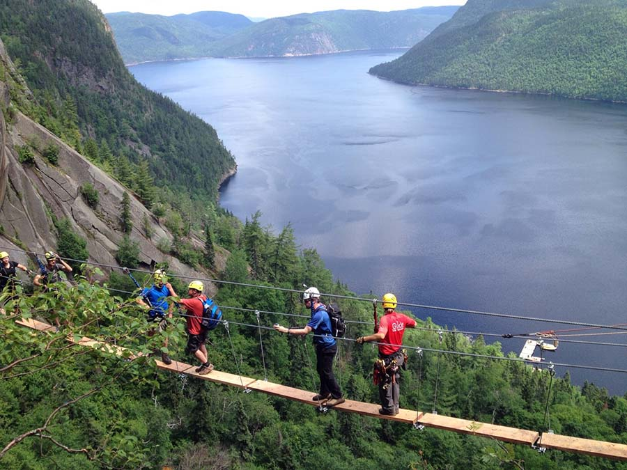 Parc national du Fjord-du-Saguenay - Via ferrata
